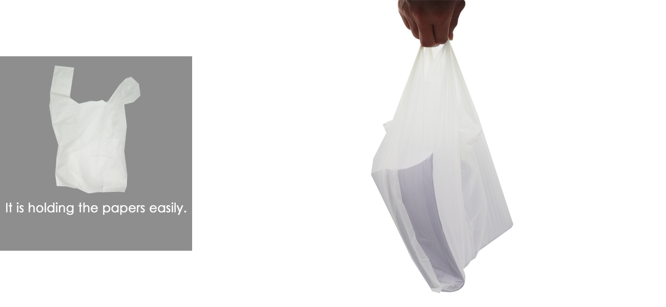 30 mil biodegradable plastic shopping bag can hold 2kg A4 paper